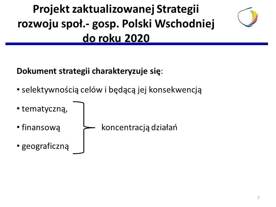 Dokument strategii charakteryzuje się: selektywnością celów i będącą jej konsekwencją tematyczną, finansową koncentracją działań geograficzną 3