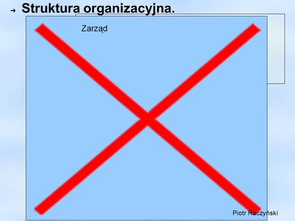 ➔ Struktura organizacyjna. Zarząd Piotr Raczyński