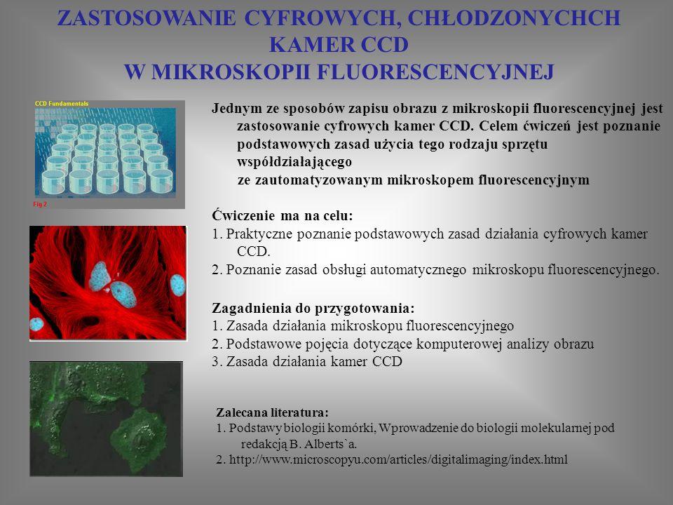 ZASTOSOWANIE METOD IMMUNOCYTOCHEMICZNYCH W DIAGNOSTYCE NOWOTWORÓW Zakres materiału, który należy przygotować do ćwiczeń: - Zalecana literatura: Temat referatu: 1.Zastosowa nie metod immunocy tochemicz nych w diagnostyc e nowotwor ów Ćwiczen i Cel ćwiczenia: wykorzystanie metody immunocytofluorescencji pośredniej do identyfikacji komórek prawidłowych i nowotworowych w hodowlach in vitro Temat referatu: Wykorzystanie metod immunocytochemicznych w diagnostyce medycznej Zagadnienia do przygotowania: 1.