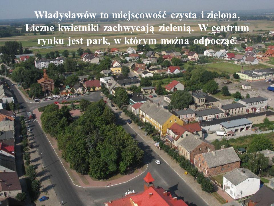 Władysławów to miejscowość czysta i zielona. Liczne kwietniki zachwycają zielenią.