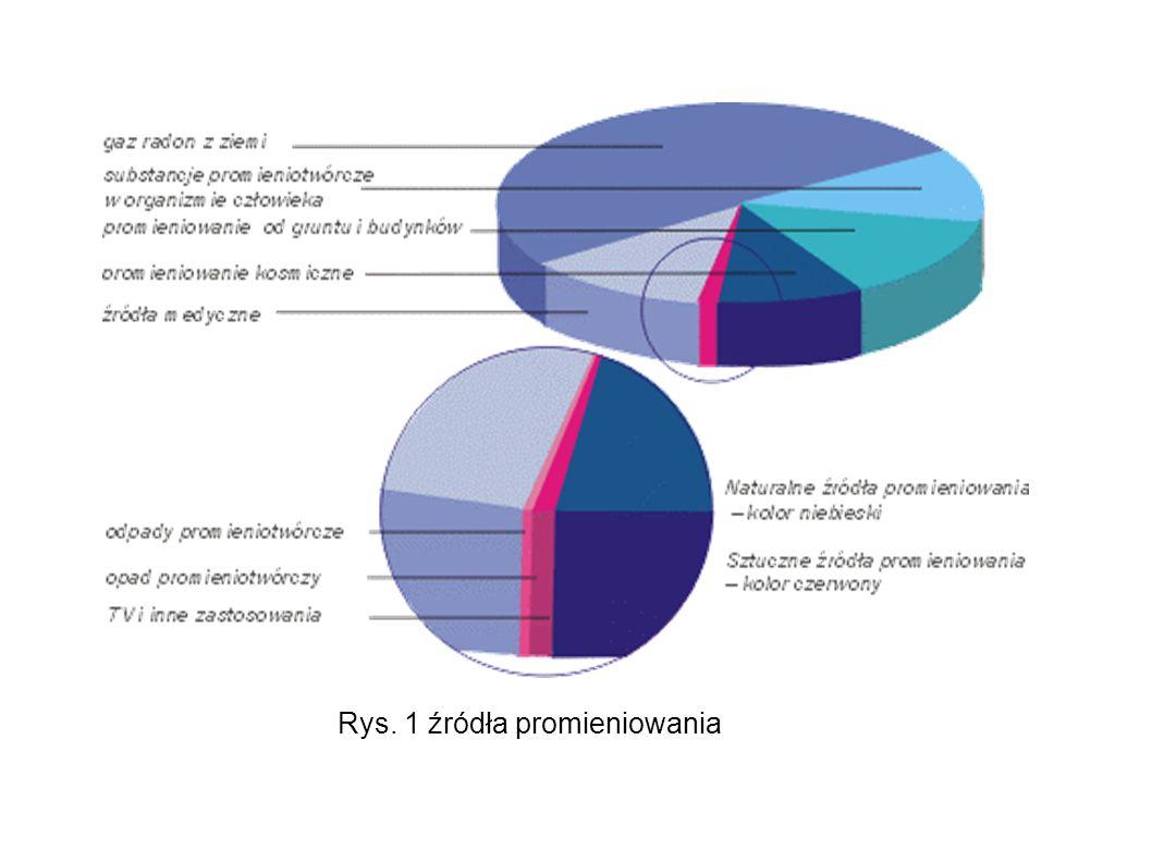 Rys. 1 źródła promieniowania