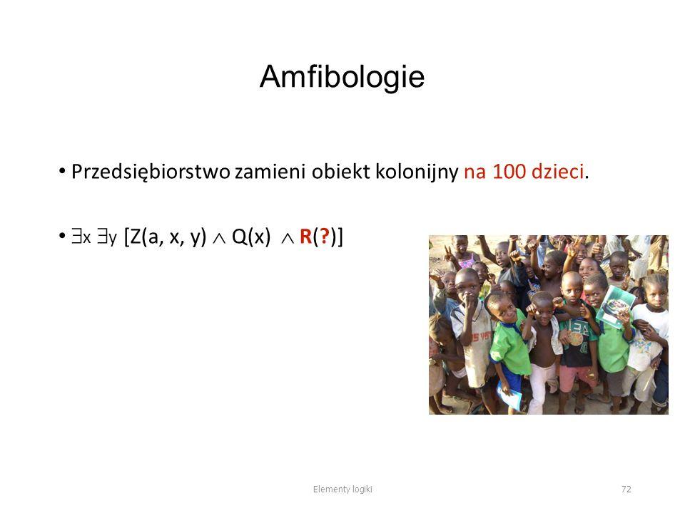 Amfibologie Przedsiębiorstwo zamieni obiekt kolonijny na 100 dzieci.