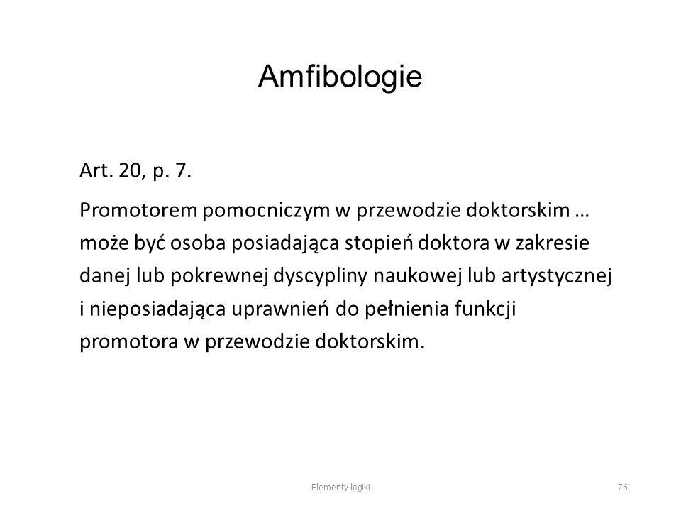 Amfibologie Art. 20, p. 7.