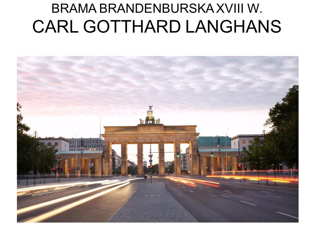 BRAMA BRANDENBURSKA XVIII W. CARL GOTTHARD LANGHANS