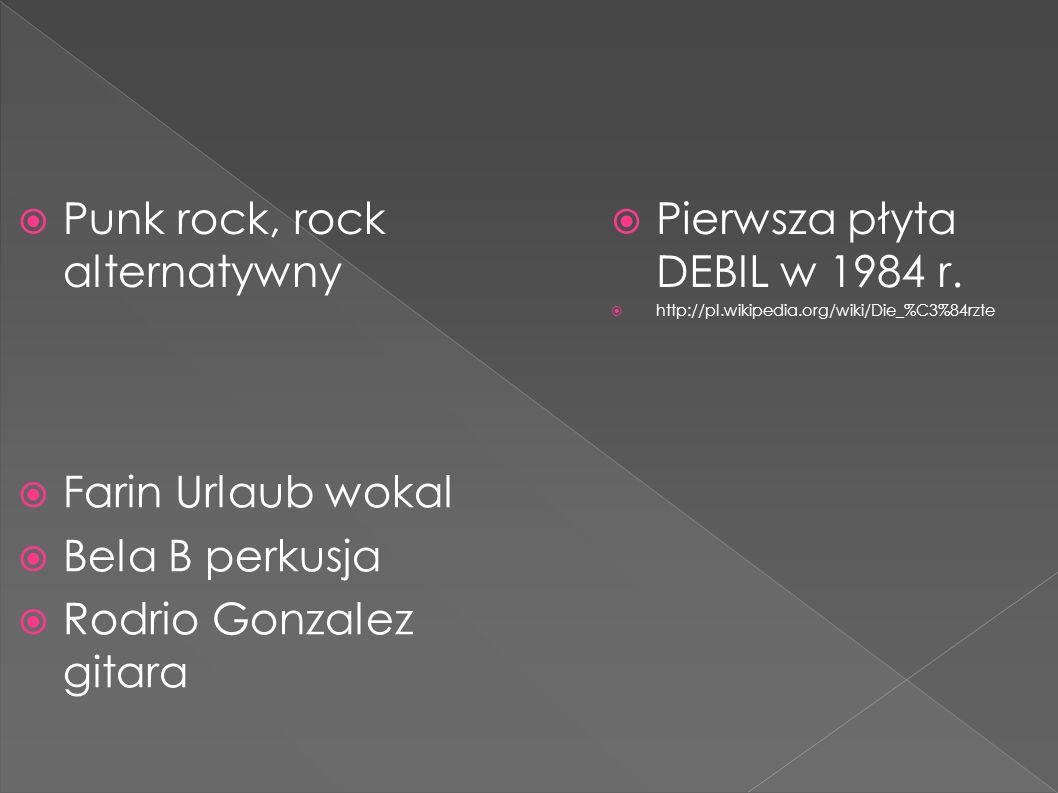  Punk rock, rock alternatywny  Pierwsza płyta DEBIL w 1984 r.