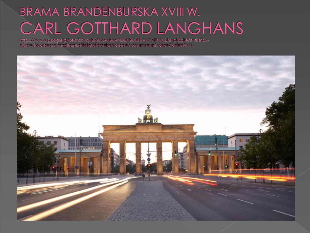 BRAMA BRANDENBURSKA XVIII W.