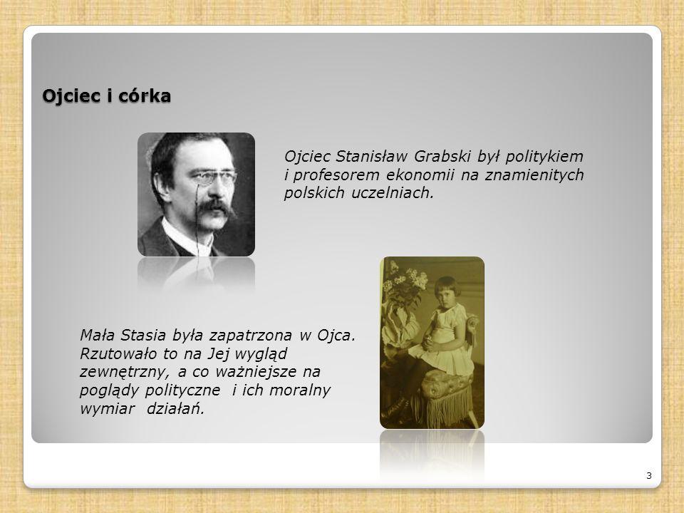 Ojciec i córka 3 Ojciec Stanisław Grabski był politykiem i profesorem ekonomii na znamienitych polskich uczelniach.