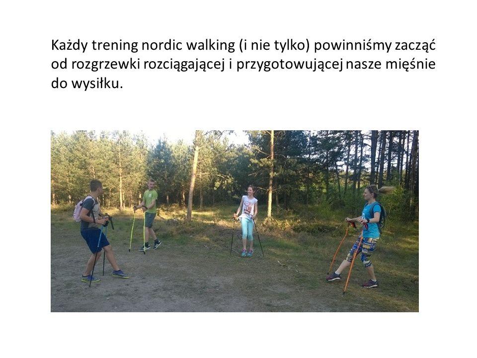 Każdy trening nordic walking (i nie tylko) powinniśmy zacząć od rozgrzewki rozciągającej i przygotowującej nasze mięśnie do wysiłku.