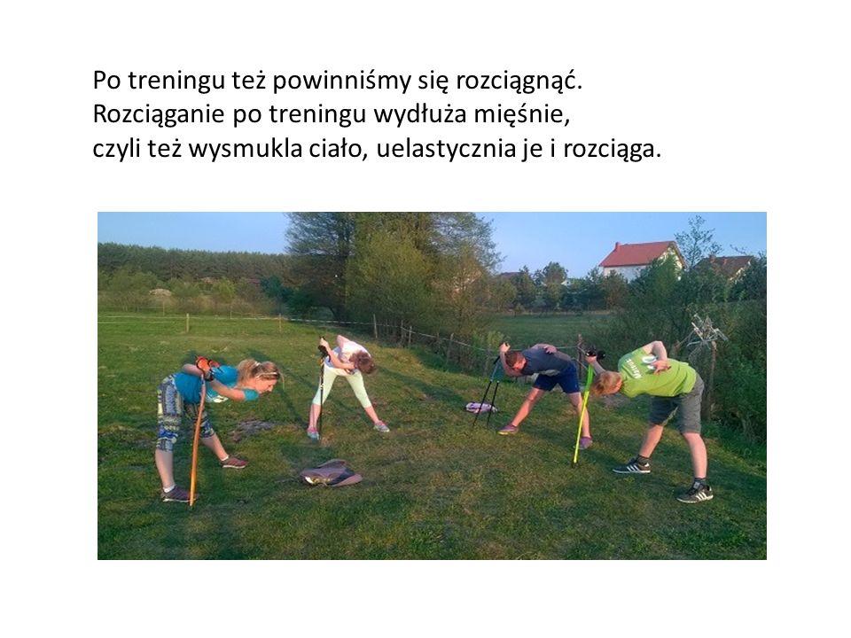Po treningu też powinniśmy się rozciągnąć. Rozciąganie po treningu wydłuża mięśnie, czyli też wysmukla ciało, uelastycznia je i rozciąga.