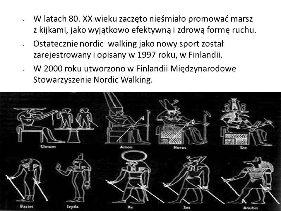 W latach 80. XX wieku zaczęto nieśmiało promować marsz z kijkami, jako wyjątkowo efektywną i zdrową formę ruchu. Ostatecznie nordic walking jako nowy