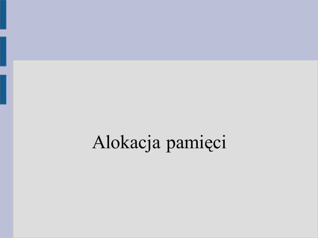 Dlaczego alokacja jest ważna dla wydajności ● Programy w języku wysokiego poziomu wykonują setki tysięcy alokacji, więc jest się o co bić ● Niefrasobliwa alokacja powoduje nadmierne zużycie pamięci, co przekłada się na wolniejsze działanie całego systemu ● Programy współbieżne często zatykają się właśnie w alokatorze, który staje się wąskim gardłem