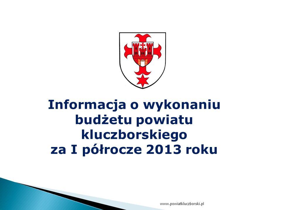 www.powiatkluczborski.pl Informacja o wykonaniu budżetu powiatu kluczborskiego za I półrocze 2013 roku