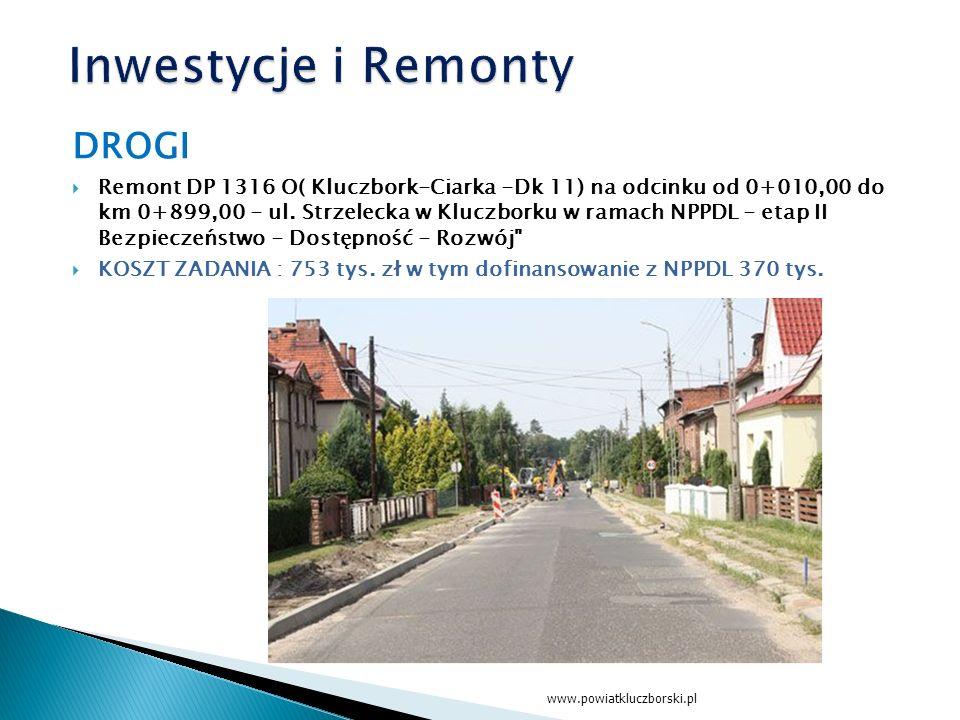 DROGI  Remont DP 1316 O( Kluczbork-Ciarka -Dk 11) na odcinku od 0+010,00 do km 0+899,00 - ul.