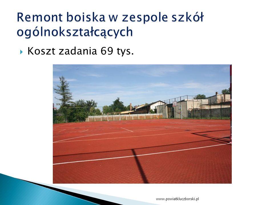  Koszt zadania 69 tys. www.powiatkluczborski.pl