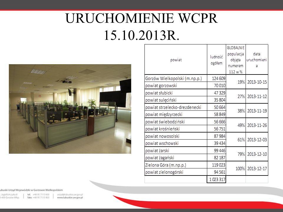 URUCHOMIENIE WCPR 15.10.2013R.