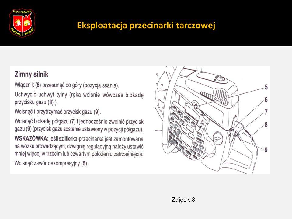 Eksploatacja przecinarki tarczowej Zdjęcie 8