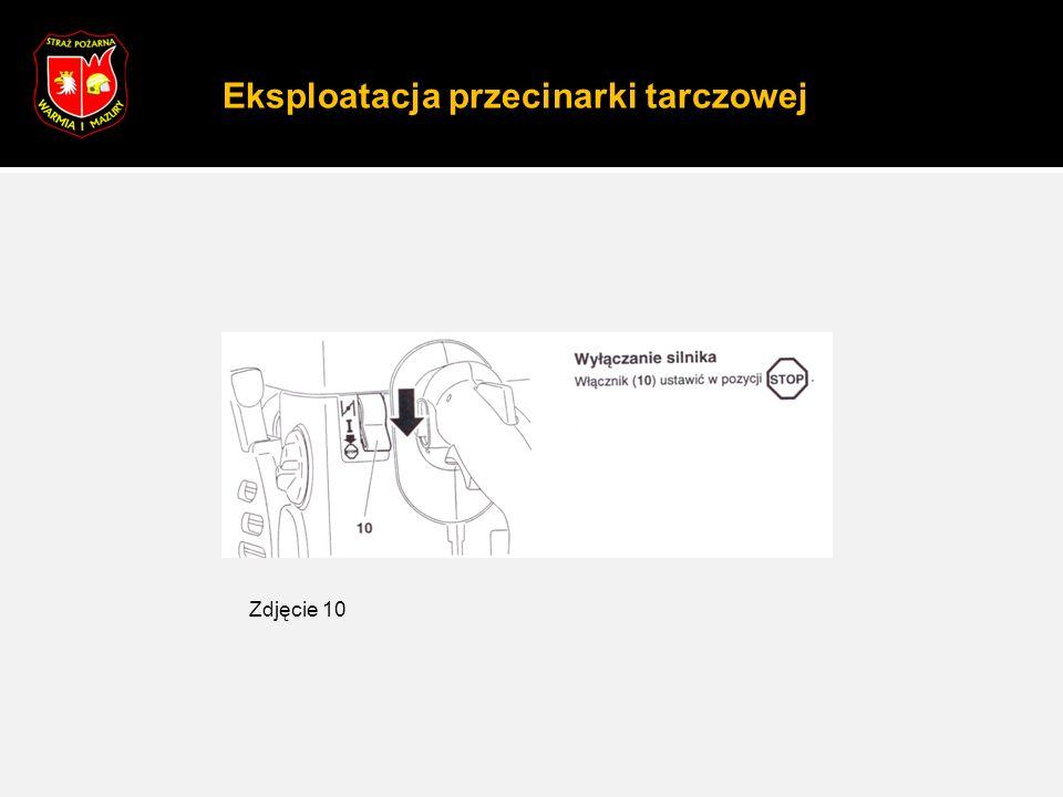 Eksploatacja przecinarki tarczowej Zdjęcie 10