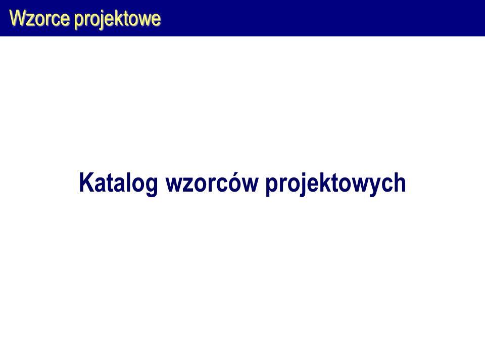 Wzorce projektowe Katalog wzorców projektowych