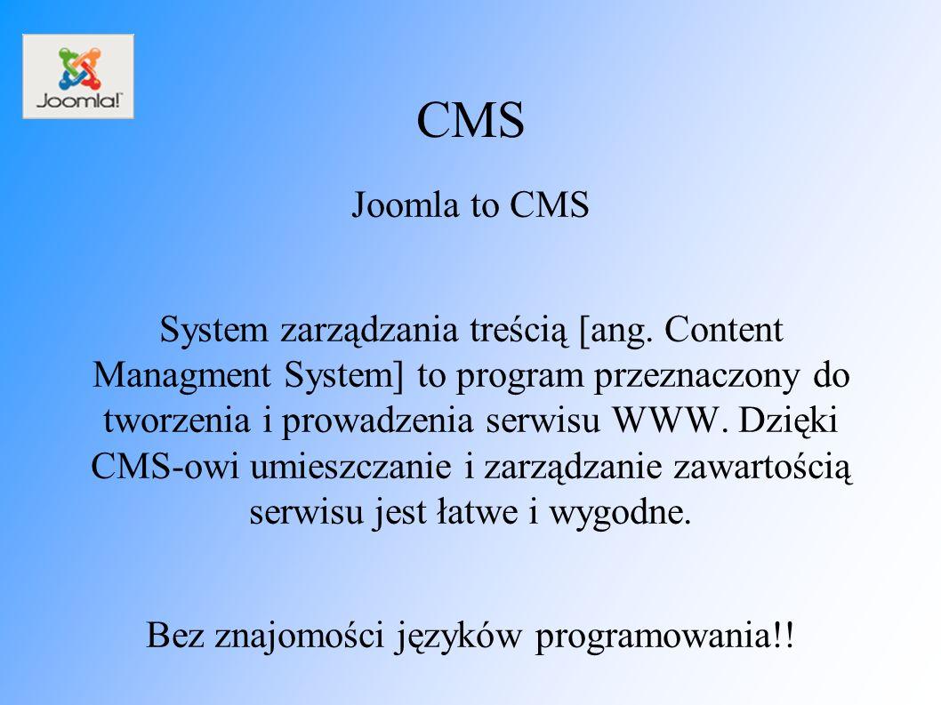 CMS Joomla to CMS System zarządzania treścią [ang.