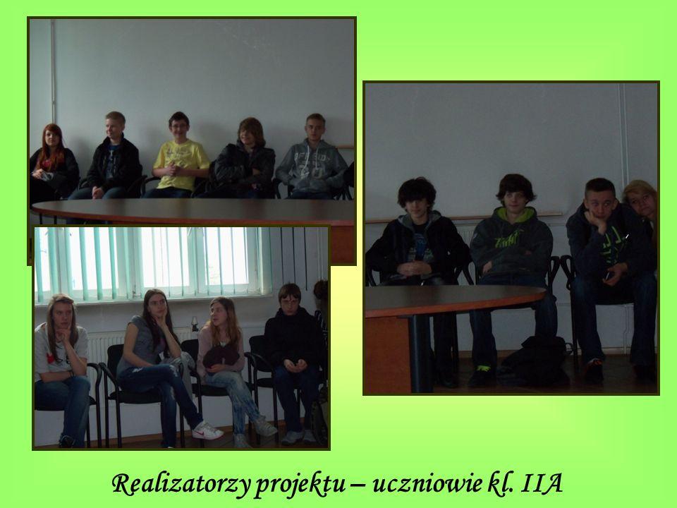 Realizatorzy projektu – uczniowie kl. IIA
