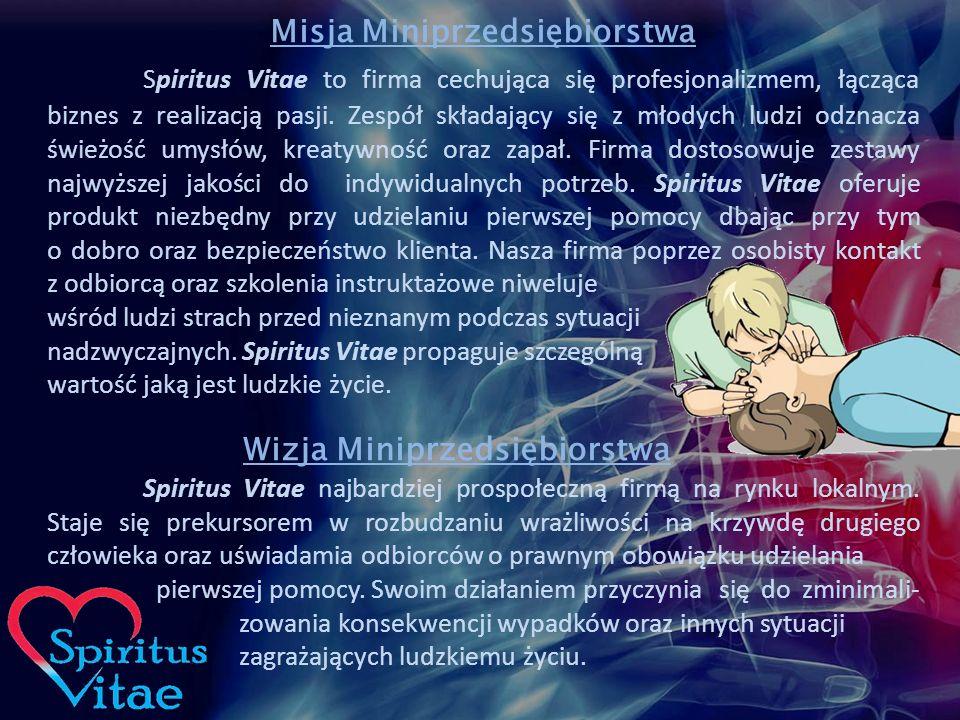 Misja Miniprzedsiębiorstwa Spiritus Vitae to firma cechująca się profesjonalizmem, łącząca biznes z realizacją pasji.
