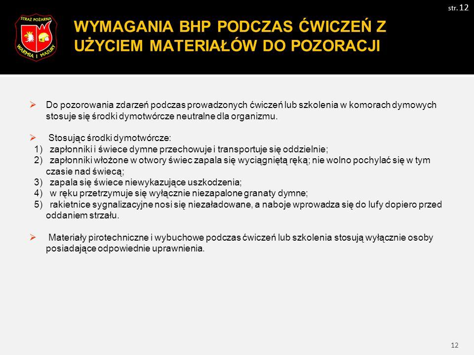13 WYMAGANIA BHP PODCZAS ĆWICZEŃ Z WYKORZYSTANIEM STATKU POWIETRZNEGO str.