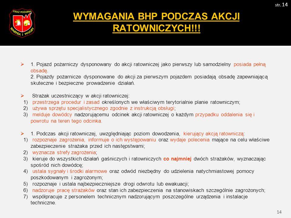15 WYMAGANIA BHP PODCZAS AKCJI RATOWNICZYCH!!.str.