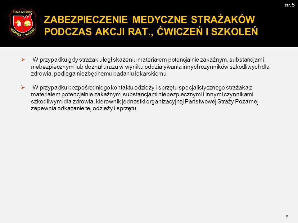 6 WYMAGANIA BHP WOBEC ORGANIZATORÓW I UCZESTNIKÓW ĆWICZEŃ str.