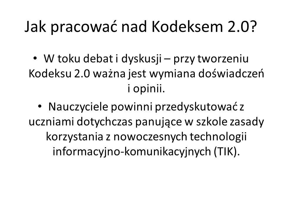 Jak pracować nad Kodeksem 2.0.