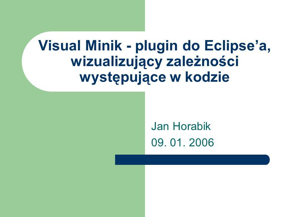 Visual Minik - plugin do Eclipse'a, wizualizujący zależności występujące w kodzie Jan Horabik 09.
