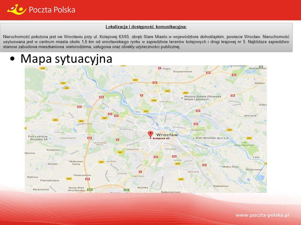 Lokalizacja i dostępność komunikacyjna: Nieruchomość położona jest we Wrocławiu przy ul.