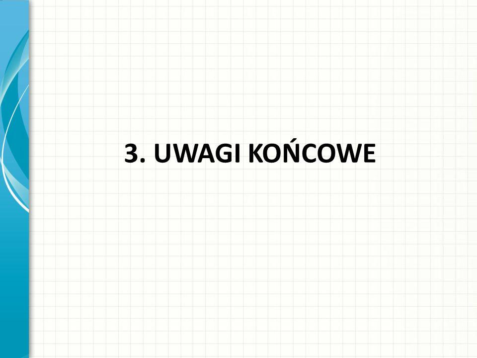 3. UWAGI KOŃCOWE