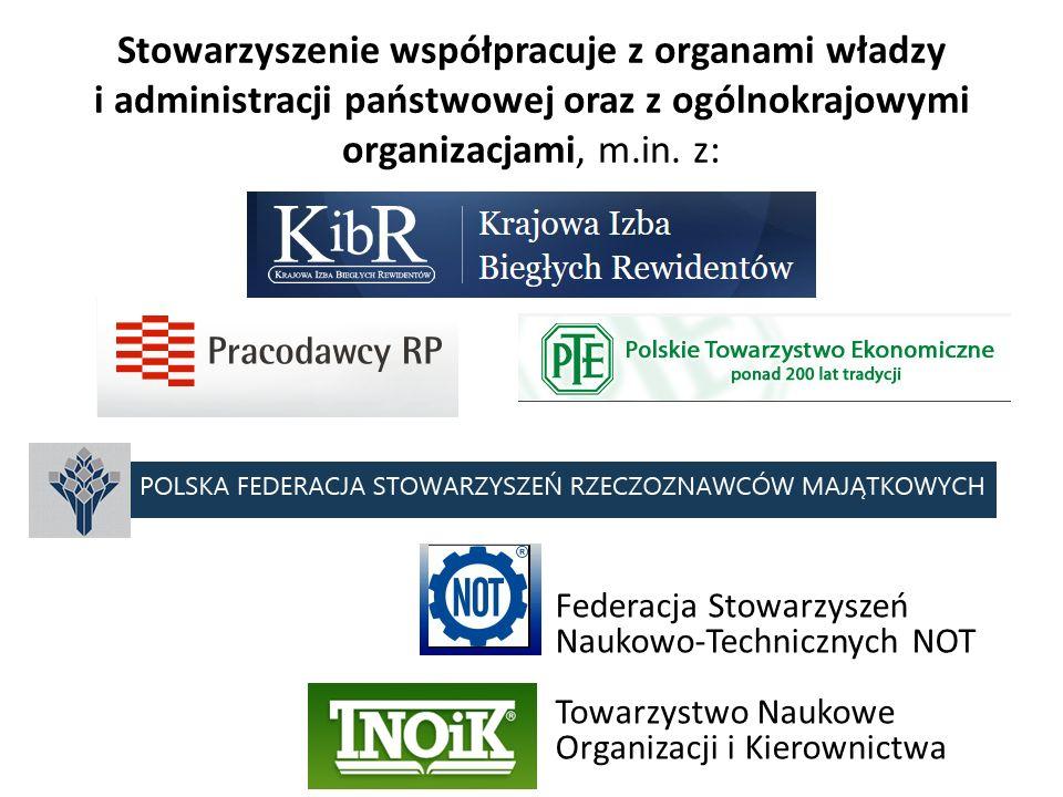 Stowarzyszenie współpracuje z organami władzy i administracji państwowej oraz z ogólnokrajowymi organizacjami, m.in. z: Federacja Stowarzyszeń Naukowo