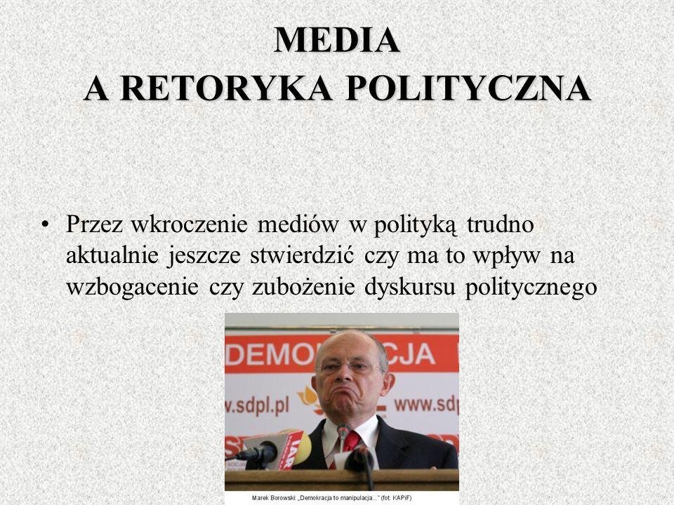 MEDIA JAKO ŹRÓŁO INFORMACJI DLA POLITYKÓW Klasyczny model komunikacji politycznej oparty na interpersonalnym komunikowaniu (model relacji politycy oby
