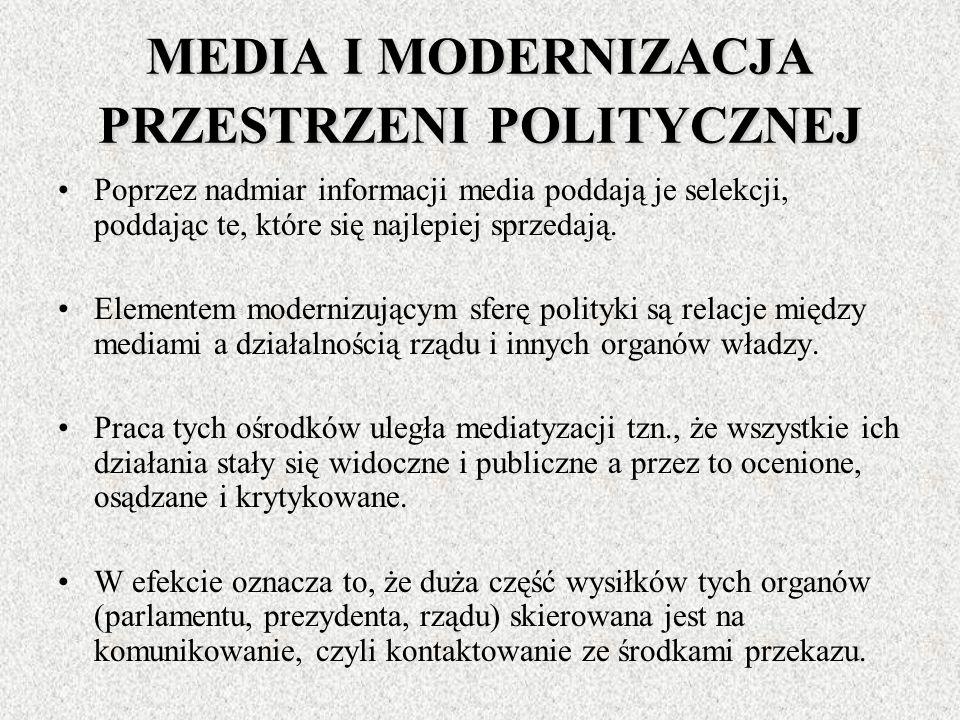 MEDIA A RETORYKA POLITYCZNA Przez wkroczenie mediów w polityką trudno aktualnie jeszcze stwierdzić czy ma to wpływ na wzbogacenie czy zubożenie dyskur