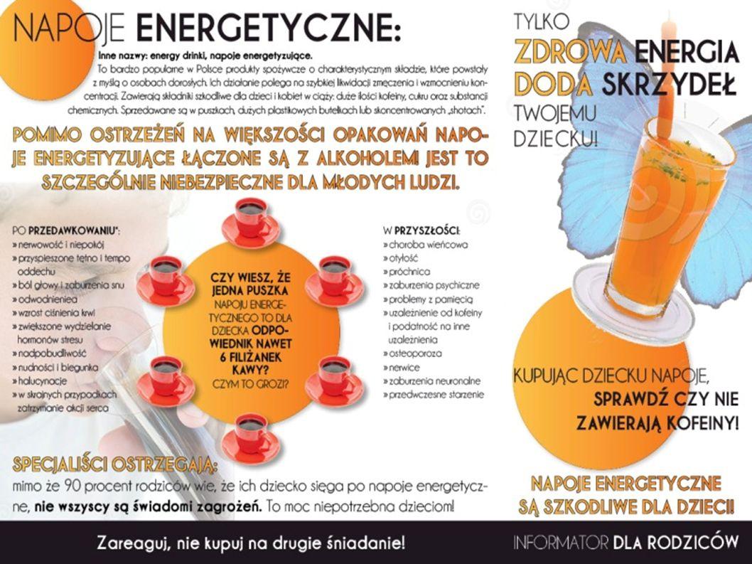 Mieszanie alkoholu z napojami energetyzującymi jest szkodliwe.