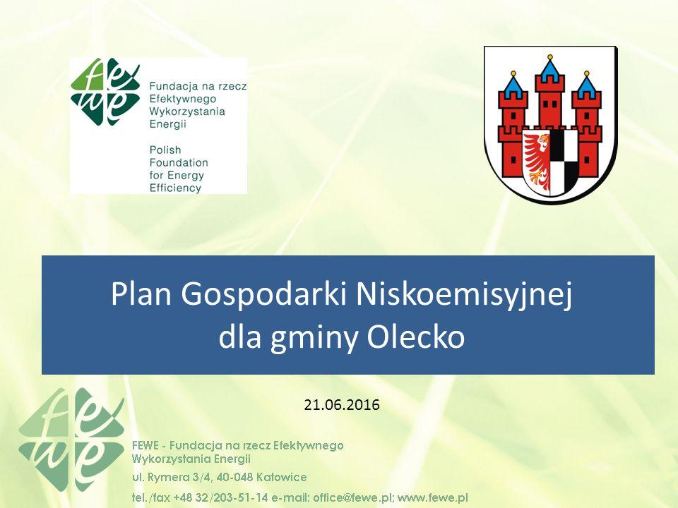 Plan Gospodarki Niskoemisyjnej dla gminy Olecko 21.06.2016