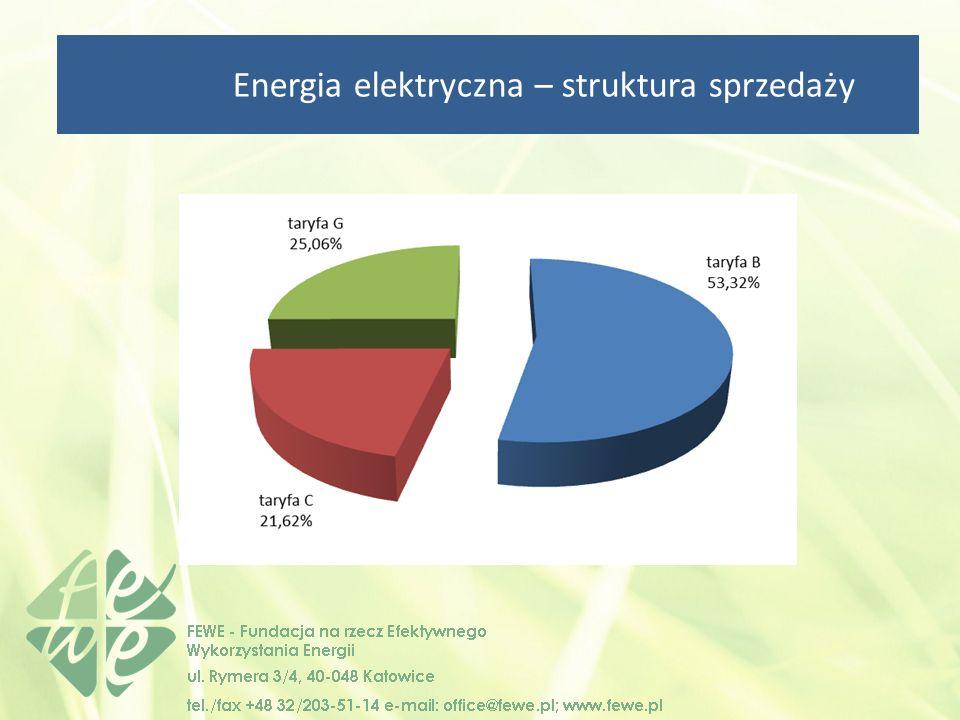 Energia elektryczna – struktura sprzedaży