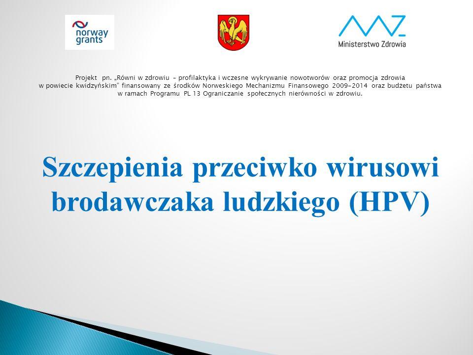 Ogólna liczba dziewczynek 2001-2004 Wzięło udział w Programie Procent zaszczepionych Miasto Kwidzyn 75254572 % Miasto i Gmina Prabuty 26416964 % Gmina Kwidzyn 18511261 % Gmina Gardeja 20711957 % Gmina Sadlinki 1277055 % Gmina Ryjewo 1375842% Projekt pn.