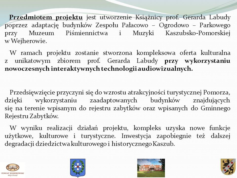 Przedmiotem projektu jest utworzenie Książnicy prof.
