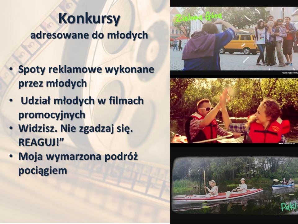 Konkursy adresowane do młodych Spoty reklamowe wykonane przez młodych Spoty reklamowe wykonane przez młodych Udział młodych w filmach promocyjnych Udział młodych w filmach promocyjnych Widzisz.