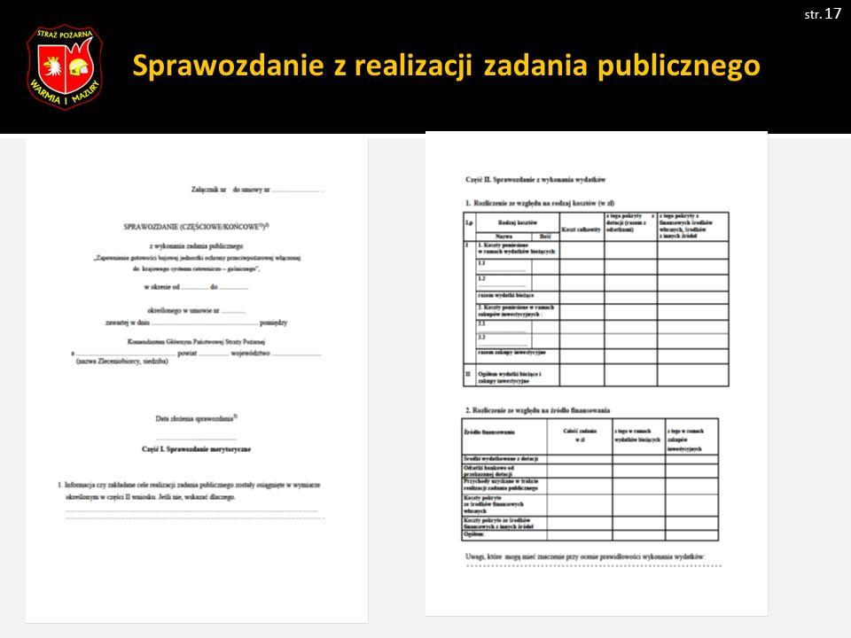 Sprawozdanie z realizacji zadania publicznego str. 17