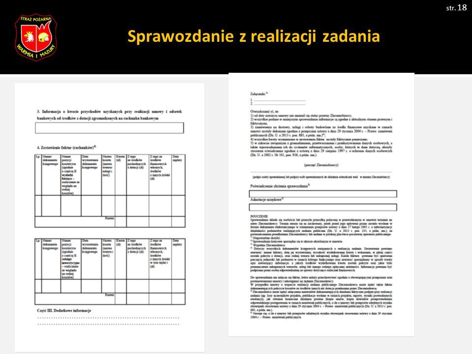 Sprawozdanie z realizacji zadania str. 18