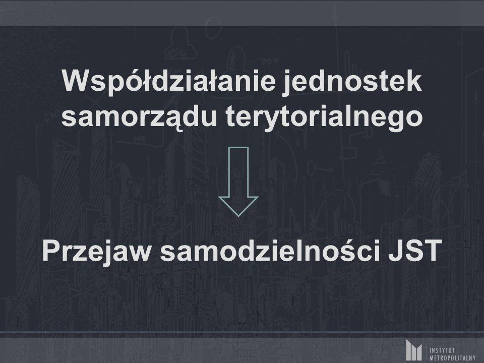 Współdziałanie jednostek samorządu terytorialnego Przejaw samodzielności JST