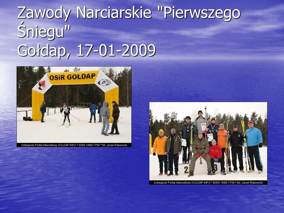 Zawody Narciarskie Pierwszego Śniegu Gołdap, 17-01-2009