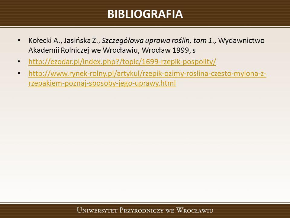 BIBLIOGRAFIA Kołecki A., Jasińska Z., Szczegółowa uprawa roślin, tom 1., Wydawnictwo Akademii Rolniczej we Wrocławiu, Wrocław 1999, s http://ezodar.pl/index.php /topic/1699-rzepik-pospolity/ http://www.rynek-rolny.pl/artykul/rzepik-ozimy-roslina-czesto-mylona-z- rzepakiem-poznaj-sposoby-jego-uprawy.html http://www.rynek-rolny.pl/artykul/rzepik-ozimy-roslina-czesto-mylona-z- rzepakiem-poznaj-sposoby-jego-uprawy.html