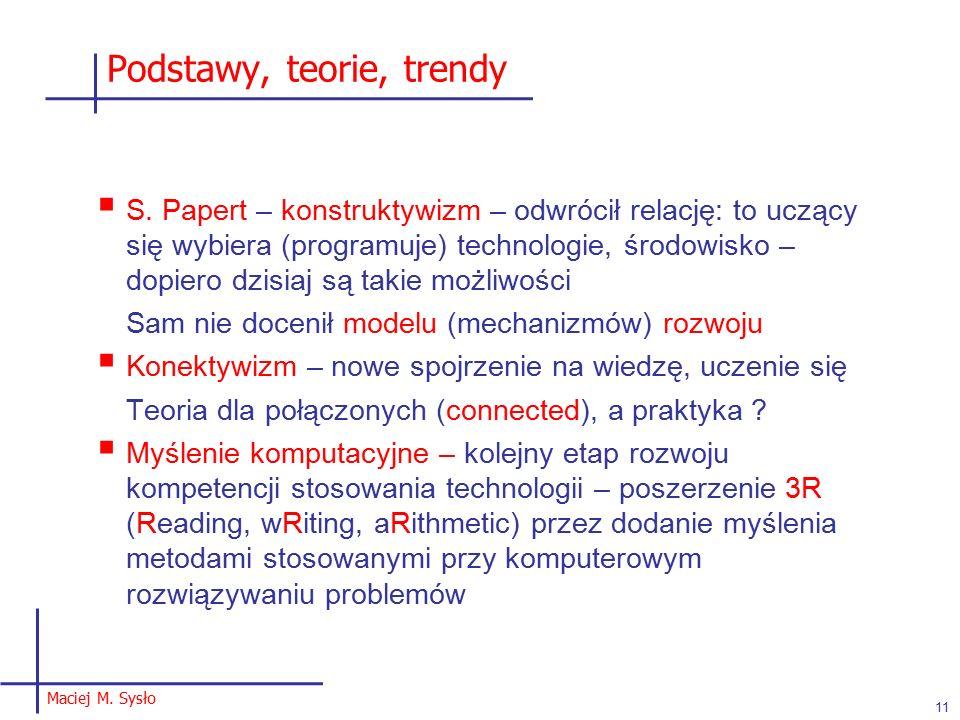 Podstawy, teorie, trendy  S.