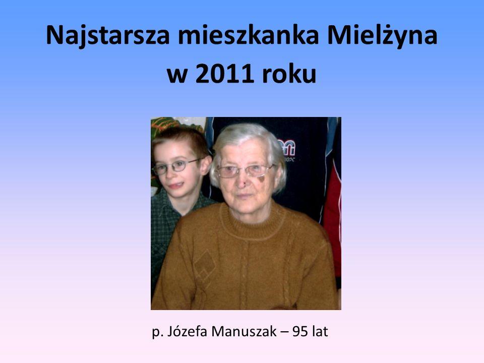 Najstarsza mieszkanka Mielżyna w 2011 roku p. Józefa Manuszak – 95 lat