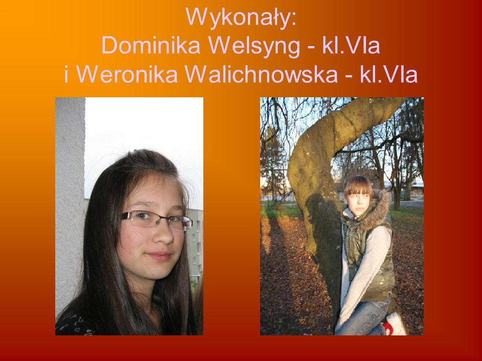 Wykonały: Dominika Welsyng - kl.VIa i Weronika Walichnowska - kl.VIa