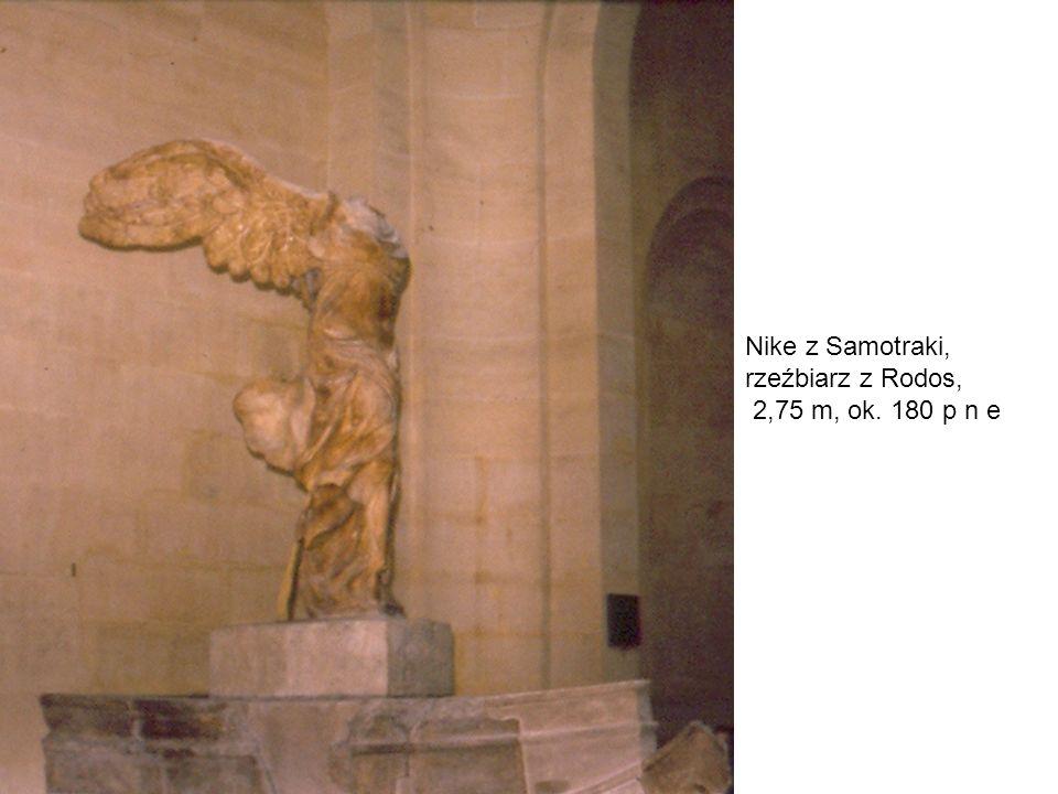 Nike z Samotraki, rzeźbiarz z Rodos, 2,75 m, ok. 180 p n e